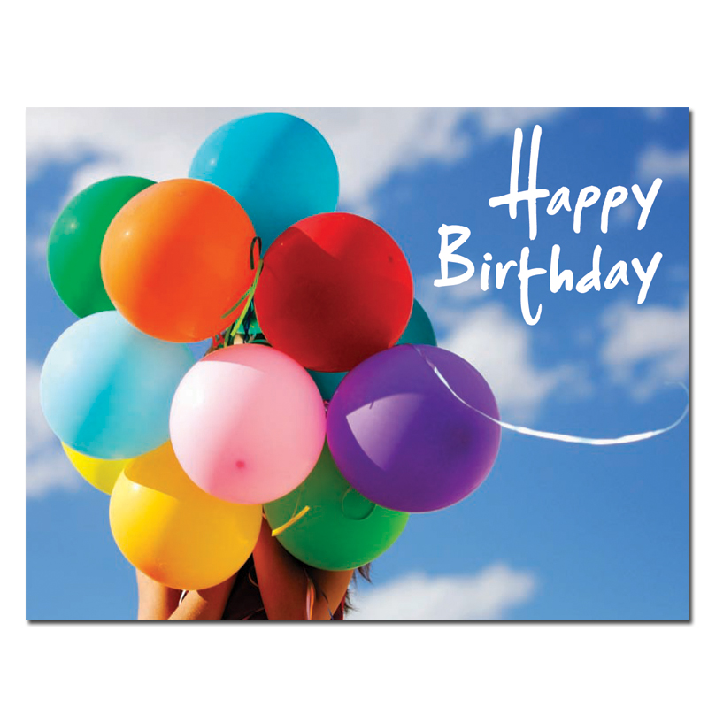 Birthday Postcards Sky Balloons box of 50 postcards – Birthday Post Cards