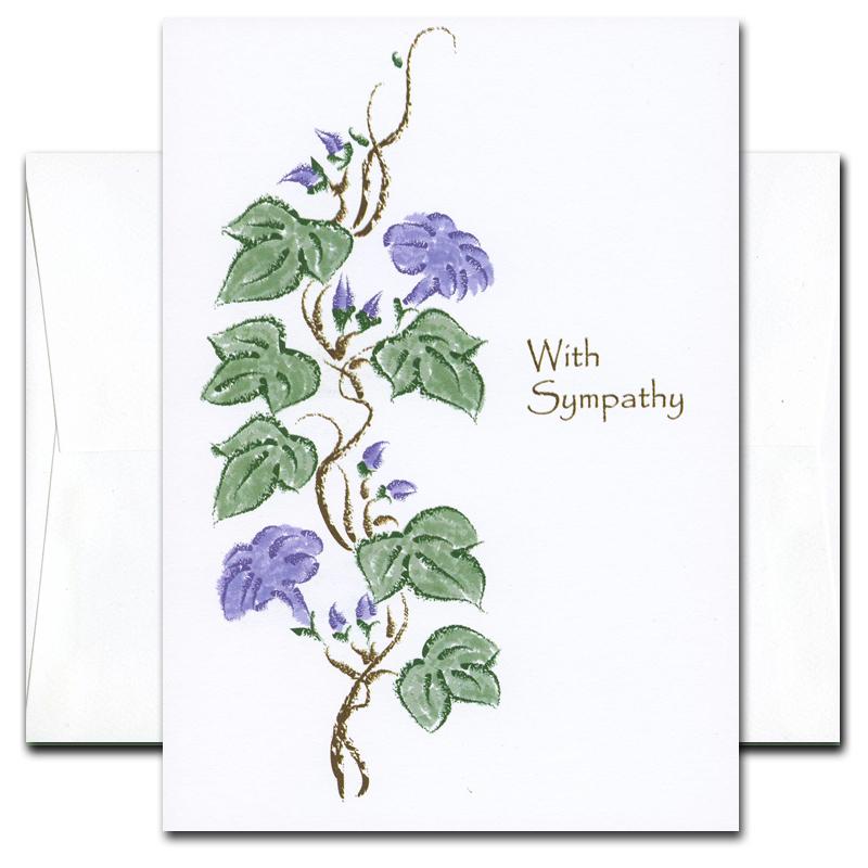 Cronincards sympathy cards heirloom vines box of 10 cards env sympathy card heirloom vines cover altavistaventures Gallery